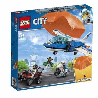LEGO City Police 60208 Policía Aérea: Arresto del Ladrón Paracaidista