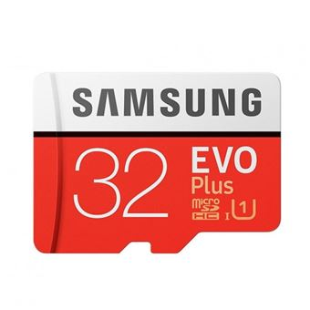 Tarjeta microSD Samsung EVO Plus 32GB C10 + Adaptador