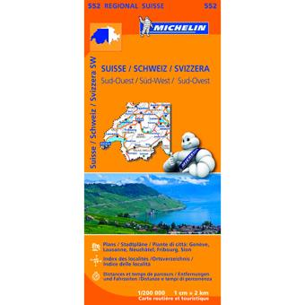 Mapa Regional: Suiza-Sud Ouest