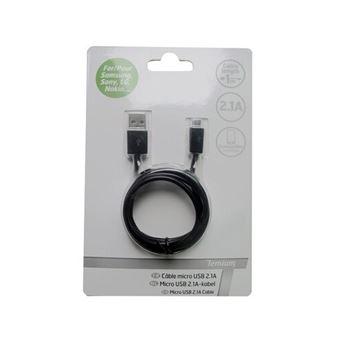 Cable Temium micro USB 1M Negro