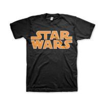 Camiseta Star Wars Logo Clásico Negro Talla L
