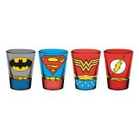 Set de 4 vasos mini DC - Logos