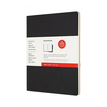 Cuaderno de notas Moleskine Subject Journal XXL negro/marrón kraft