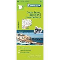 Barcelona y alrededores-mapa zoom