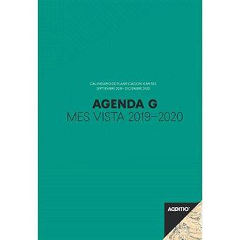 Agenda G 2019-2020 Additio Mes vista verde