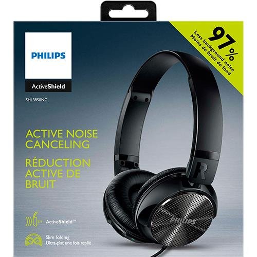 Auriculares Noise cancelling Philips SHL3850NC Negro