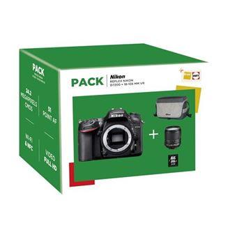 Cámara Réflex Nikon D7200 + 18-105 mm VR Negro Pack
