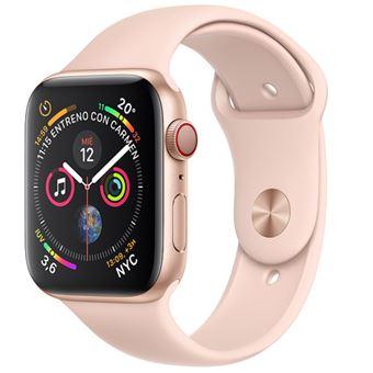 Apple Watch S4 40mm LTE Caja de aluminio en oro y correa deportiva Rosa arena