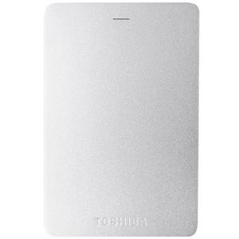 Disco duro portátil Toshiba Canvio Aluminio 2TB 2,5'' Plata