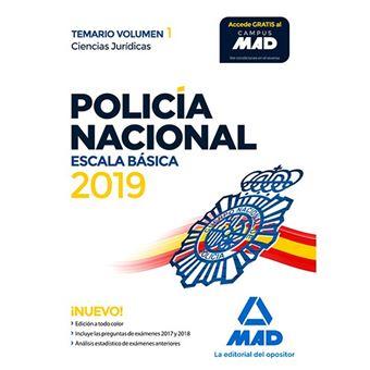 Policía Nacional - Escala básica - Temario Volumen 1 - Ciencias Jurídicas