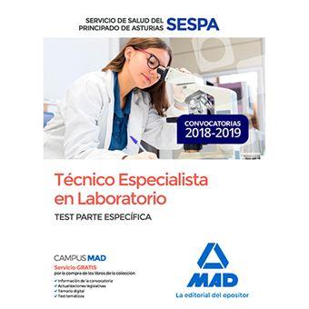 Técnico Especialista en Laboratorio del Servicio de Salud del Principado de Asturias (SESPA) - Test parte específica