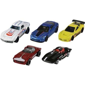 Pack de 5 coches Hot Wheels Mattel 1806 - Varios modelos