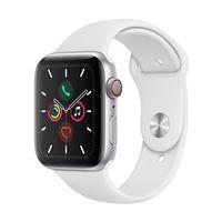 Apple Watch S5 44 mm LTE Caja de aluminio en plata y Correa deportiva Blanco
