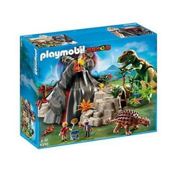 Playmobil Dinos  Volcán con Tiranosaurius