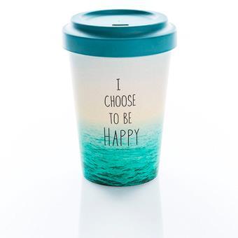 Taza de café para llevar Bamboocup Choose Happy