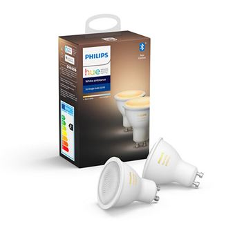 Kit bombilla inteligente Philips Hue GU10 Ambiental Blanco