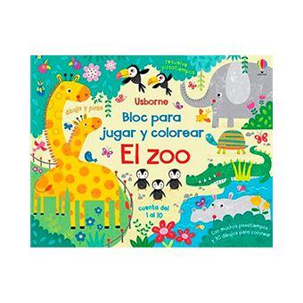 Bloc para jugar y colorear - El zoo