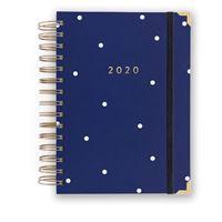 Agenda Charuca 2020 Día por Página Mediana Jefa Azul Navy