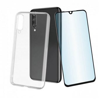 Funda Muvit Cristal Soft Transparente + Protector de pantalla Cristal templado para Xiaomi Mi 9T