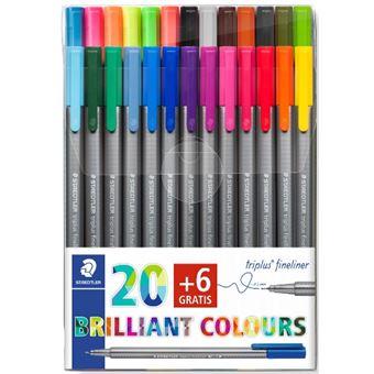 Set 26 rotuladores multicolor Staedtler Triplus Fineliner
