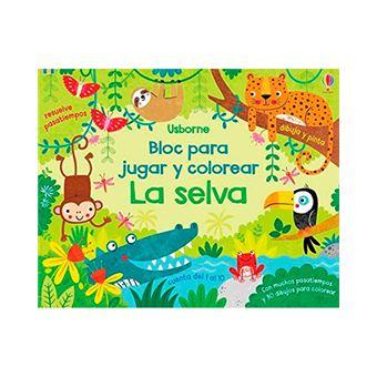 Bloc para jugar y colorear - La selva