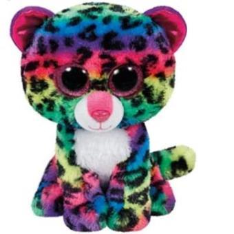 Peluche Beanie Boos Leopardo de colores (15cm)