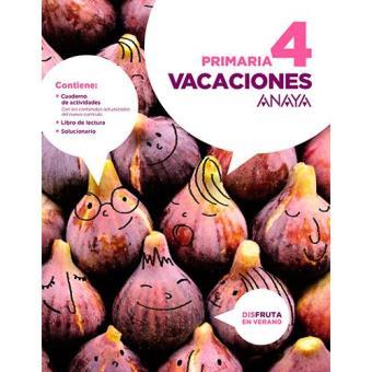Vacaciones Anaya 4 º Primaria - -5% en libros | FNAC