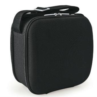 Porta alimentos Iris Cubic Lunchbag Classic Negro + 2 Tupper herméticos + Bandeja