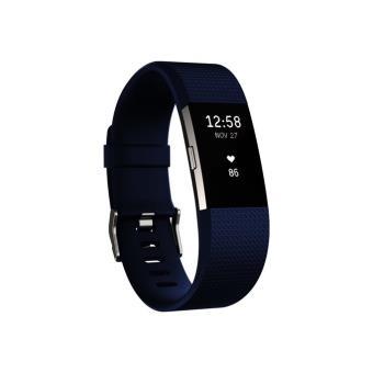 Smartband Fitbit Charge 2 Azul/Plata Talla L