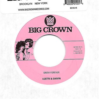 Grow forever - Now it's your turn to sing - Single Vinilo