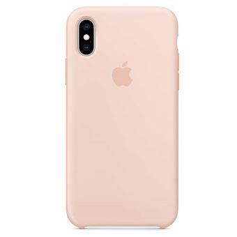 Funda de silicona Apple Case Rosa Arena para iPhone Xs