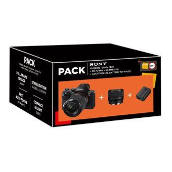 Cámara EVIL Sony A 7 II + 28 -70 mm + 50mm + Batería Pack
