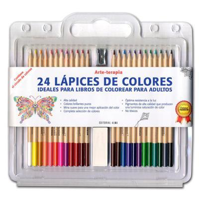 Set 24 lápices de colores Arte-terapia - Sinopsis y Precio   FNAC