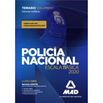 Policía Nacional Escala Básica - Temario Volumen 1 Ciencias Jurídicas