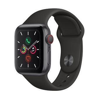 Apple Watch S5 40 mm LTE Caja de aluminio en gris espacial y Correa deportiva Negro