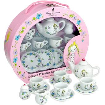 Juego de té de porcelana de la princesa y el guisante