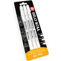 Bolígrafos Sakura Gelly Roll 0.5, 0.8, 10 blanco