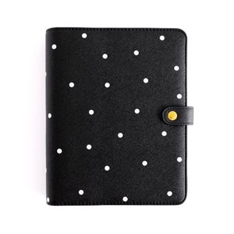 Planner personal Charuca A5. Negro topos