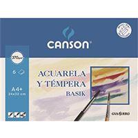 Mini Pack 6 Hojas Acuarela y témpera Canson Guarro - A4 Basik