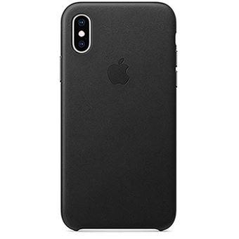 Funda Apple Leather Case Negro para iPhone Xs