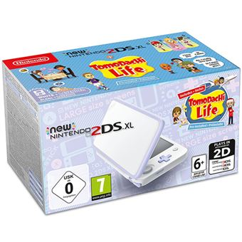 New Nintendo 2DS XL Blanco - Lavanda + Tomodachi