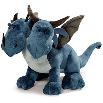 Peluche dragón bicéfalo azul 30 cm Nici