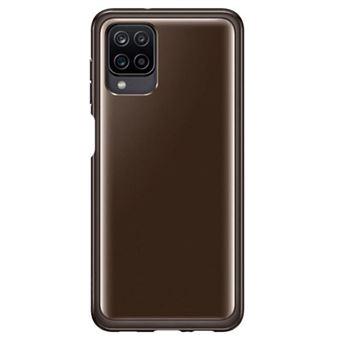 Funda Samsung Soft Clear Negro para Galaxy A12