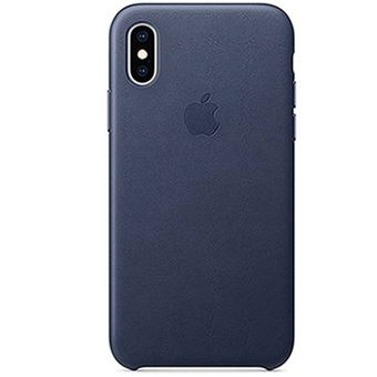 Funda Apple Leather Case Azul Noche para iPhone Xs
