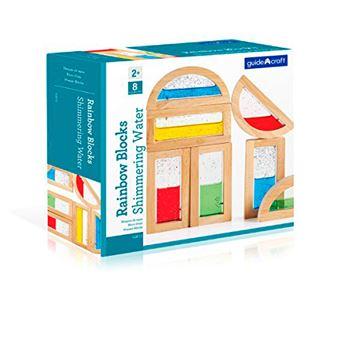 Bloques Arco Iris Agua brillante Guidecraft - Kit de 8 piezas