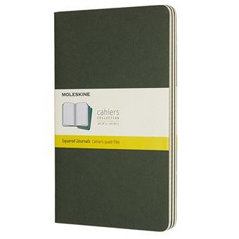 Libreta Moleskine Cahier Squared JournaLarge Pocket Verde Cuadrícula