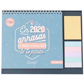 Mr Wonderful Calendario de sobremesa  – El 2020 arrasas y verás lo bien que te lo pasas