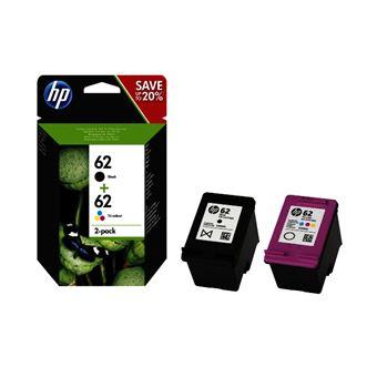 Cartucho de tinta HP 62 Negro - Tri-Color Pack