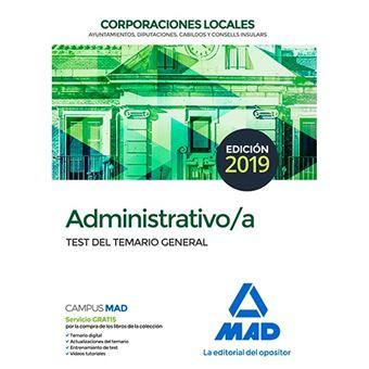 Administrativo/a de las Corporaciones Locales - Test del temario general