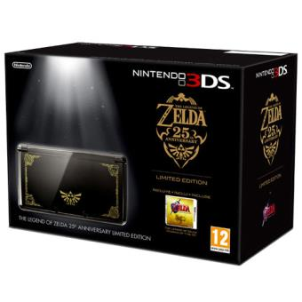 Nintendo 3ds Negra Edicion 25 Aniversario De Zelda Juego The